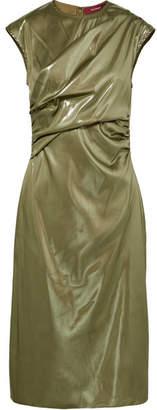 Sies Marjan - Edie Ruched Lamé Dress - Metallic