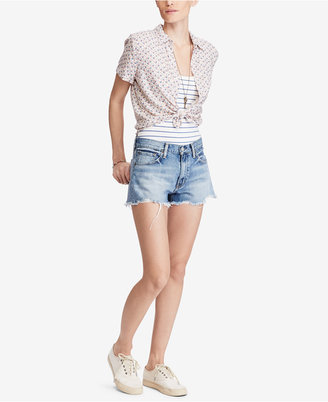 Denim & Supply Ralph Lauren Cropped Floral-Print Shirt $69.50 thestylecure.com