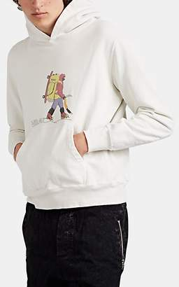 "Remi Relief Men's ""Hiker"" Cotton Terry Hoodie - Cream"