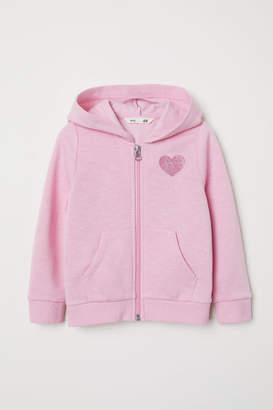H&M Hooded Sweatshirt Jacket - Pink
