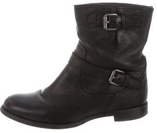 pradaPrada Leather Moto Ankle Boots