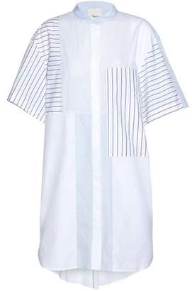 3.1 Phillip Lim Paneled Striped Cotton Mini Dress