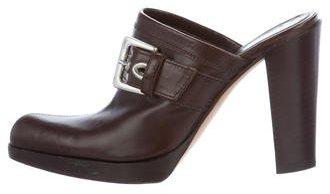 Saint LaurentYves Saint Laurent Buckle-Accented Leather Mules