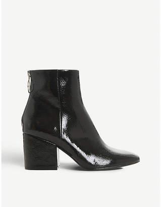 Steve Madden Break zip-detail patent ankle boots