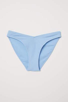 H&M V-cut Bikini Bottoms - Red/white striped - Women