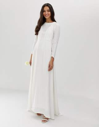 Asos Edition EDITION plaited wedding dress