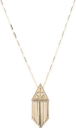 House of Harlow Golden Hour Fringe Pendant Necklace $88 thestylecure.com