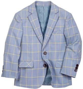 Isaac Mizrahi Checkered Blazer (Toddler & Big Boys)