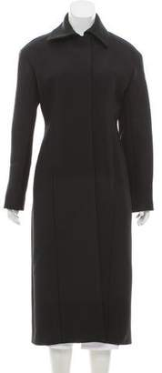The Row Wool-Silk Long Coat w/ Tags