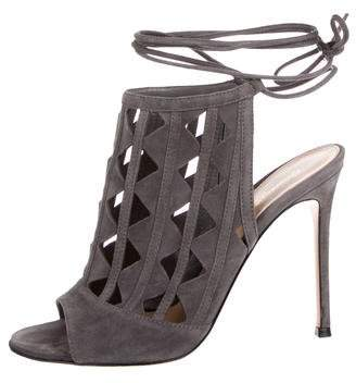 Gianvito Rossi Maxine Laser Cut Sandals
