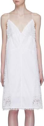 Calvin Klein Chantilly lace trim slip dress