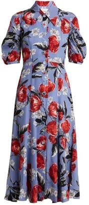 Erdem Gisella floral-print crepe de Chine dress