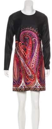 Marchesa Voyage Long Sleeve Mini Dress