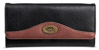 Bolo Women's Faux Leather Wallet with Back/Interior Compartments and Zipper Closure - Walnut $17.99 thestylecure.com