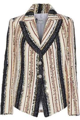 Lanvin Striped Sequin-Embellished Woven Blazer
