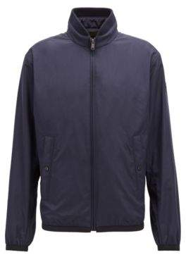 BOSS Hugo Water-repellent blouson jacket in peach-touch technical fabric 36R Dark Blue