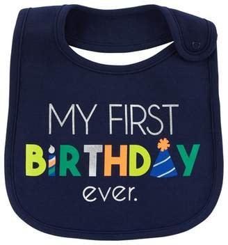 Carter's Just One You made by carter Baby Boys' My First Birthday Bib - Just One You® made by Blue OSZ