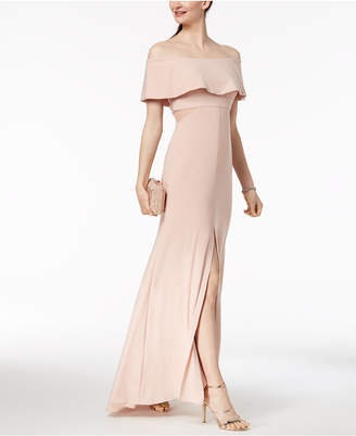 Xscape Evenings X by Off-The-Shoulder Ruffle Gown