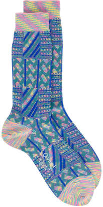 Ayame Marble Grater patterned socks