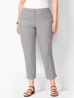 Talbots Plus Size Tailored Gingham Crops - Curvy Fit