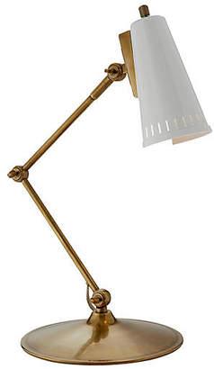 Visual Comfort & Co. Antonio Articulating Task Lamp - Brass/White