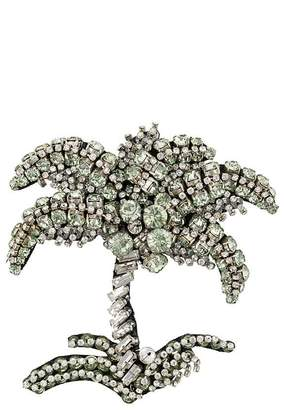 No.21 embellished palm tree brooch