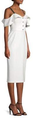 Jason Wu Cold Shoulder Compact Crepe Dress