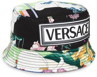 Versace First Line Logo Bucket Hat