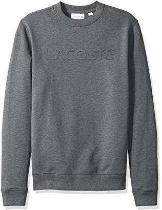 Lacoste Men's Graphic French Terry Sweatshirt with Embossed Word