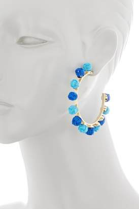 Suzanna Dai Chinese Knot Hoop Earrings