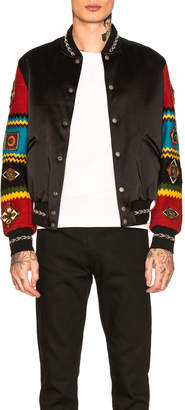Saint Laurent Patchwork Bomber Jacket