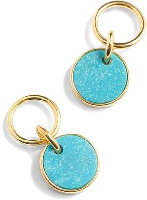 J.Crew Demi Fine 14k Gold Plated Turquoise Drop Earrings