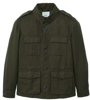 Blend of America Mango man MANGO MAN Cotton linen field jacket