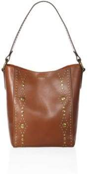 Frye Harness Studded Leather Hobo Bag