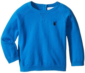 Burberry Kids - Core Cotton V-Neck Boy's Sweater $95 thestylecure.com