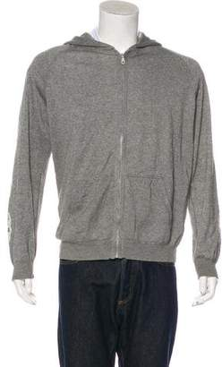 Lucien Pellat-Finet Skull-Embroidered Cashmere-Blend Hoodie