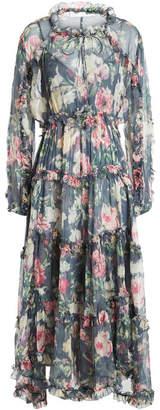 Zimmermann Iris Printed Silk Chiffon Dress