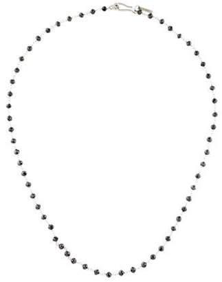 Me & Ro Me&Ro Platinum Diamond Bead Necklace black Me&Ro Platinum Diamond Bead Necklace