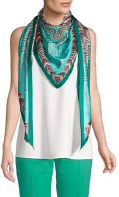 Missoni Patterned Triangle Silk Scarf