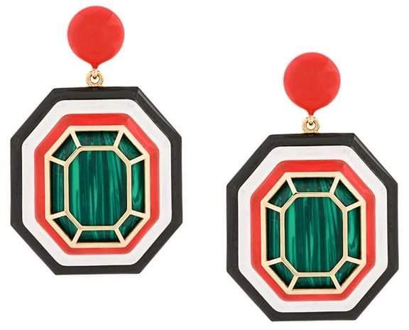 Nevernot geometric drop earrings