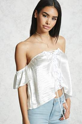 53b0e85ff77dc5 Forever 21 White Cold Shoulder Tops For Women - ShopStyle Canada