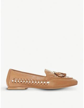 Dune Gazele tassel woven leather loafers