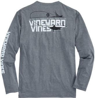 Vineyard Vines Long-Sleeve Performance Deep Sea Marlin Pocket T-Shirt