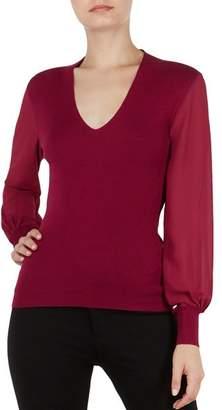 Ted Baker Bryanna Bishop-Sleeve Sweater