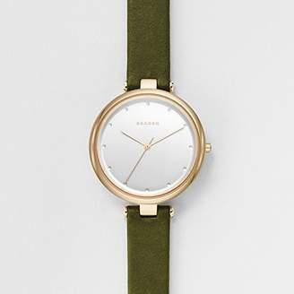 Skagen Women's SKW2483 Tanja Green Leather Watch