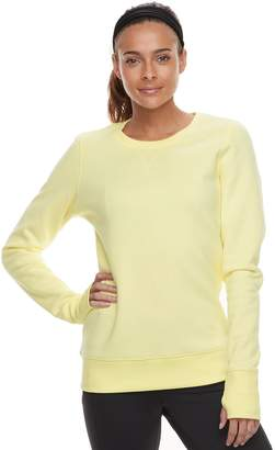 Tek Gear Women's Crewneck Thumb Hole Sweatshirt