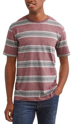 George Men's and Big and Tall Men's Stripe Tee, up to size 3XLT