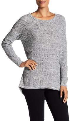 Philosophy Apparel Long Sleeve Scoop Neck Hi-Lo Knit Sweater $68 thestylecure.com