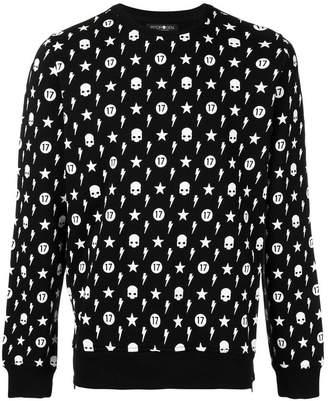 Hydrogen skull pattern sweatshirt