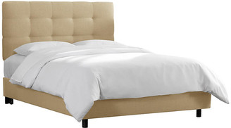 One Kings Lane Alice Tufted Bed - Sand Linen